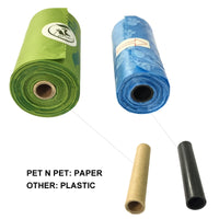Biodegradable Dog Poop Bags Cornstarch Earth Friendly Zero Waste 17 Micron ASTM D6400 Compostable Cat Waste Bags Garbage Bags