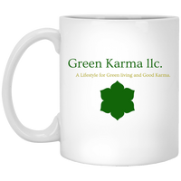 11 oz. White Mug  By Green Karma