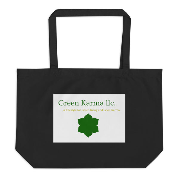 Large organic tote bag-By Green Karma