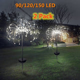 DIDIHOU Solar Powered Outdoor  Grass Globe  Lamp 90/120/198 LED For Garden Lawn Landscape Lamp Holiday Garden Light