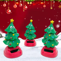 Car Auto Solar Swinging Christmas Tree Dancing Christmas Tree Gift For Car And Home Decoration Christmas Interior Kids Toys Gift