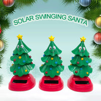 Car Decoration Solar Powered Dancing Swinging Christmas Tree Kids Toys Gift Car Interior Dashboard Decoration Acessories