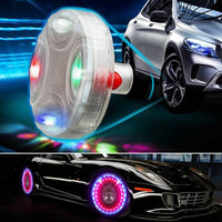 1 Pcs Car Auto Wheel Hub Tire Solar Color LED Decorative Light Solar Energy Decorative Flash Car Styling LED Light Hot