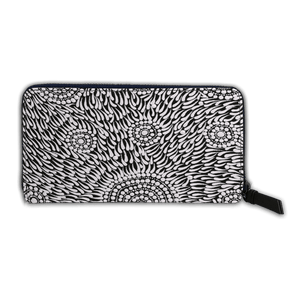 Zip Around Long Wallet -  Watiya-warnu Jukurrpa (Seed Dreaming)