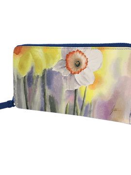 Zip Around Long Wallet - The Daffodil