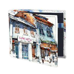 Load image into Gallery viewer, Bi fold Wallet - Shophouses