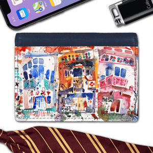 Flap Card Wallet - Shophouses at Tyrwhitt Road, Singapore