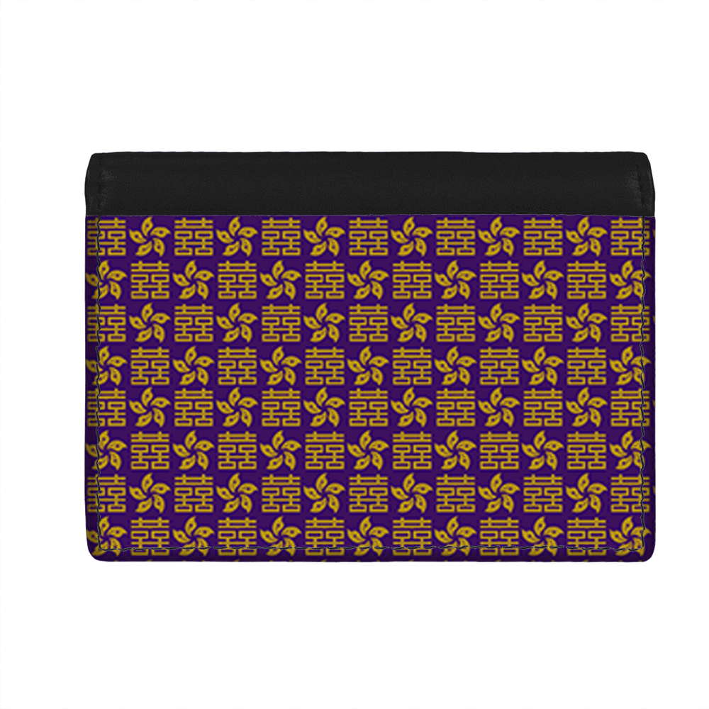 Flap Card Wallet - Happiness & Bauhinia Pattern