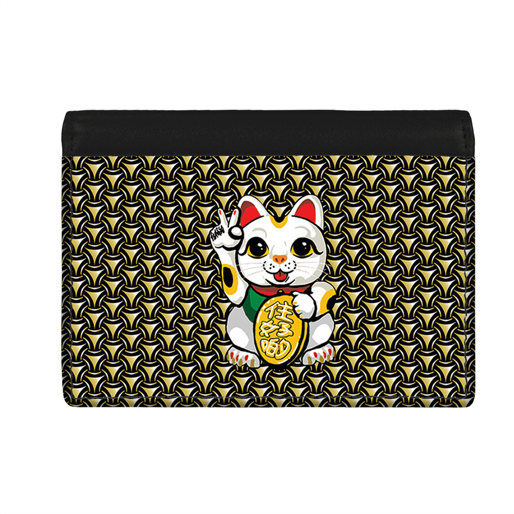 Flap Card Wallet -  Lucky Cat Armour