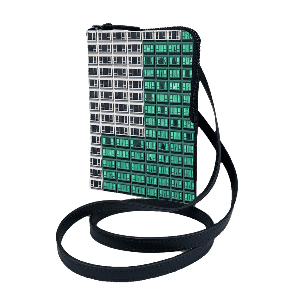 Cross body Phone Pouch - Hong Kong Building