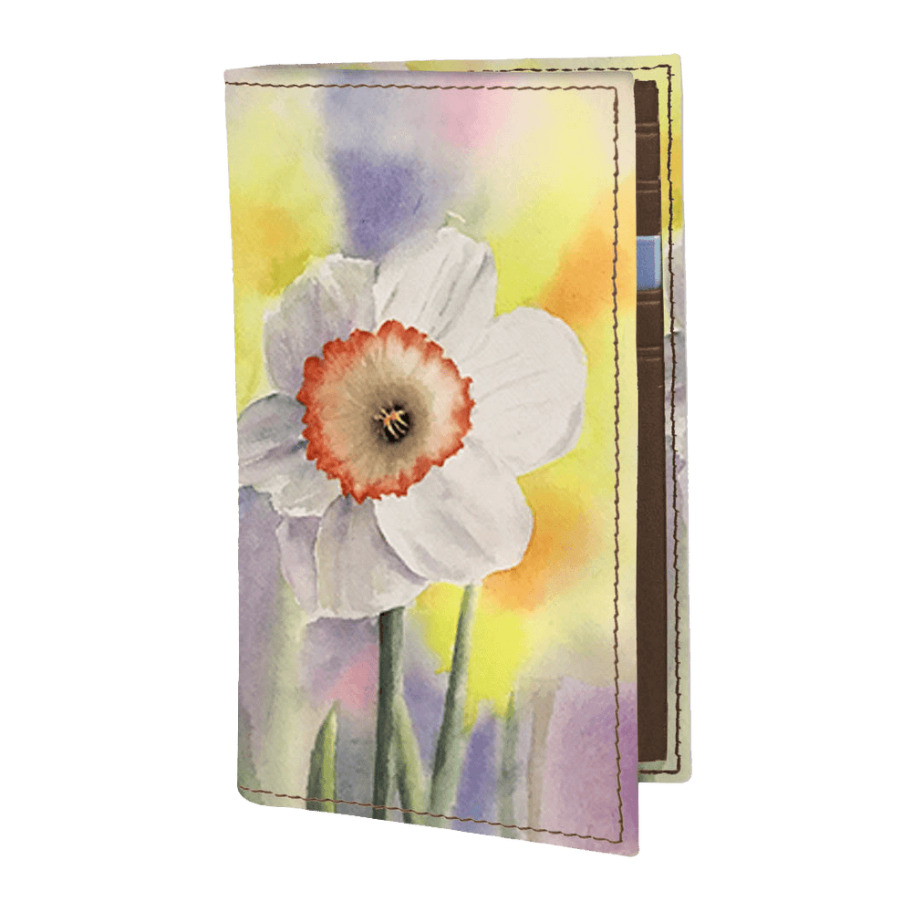 Vertical Book Card Case  - The Daffodil
