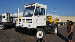 05 CAPACITY TJ500 with Cummins ISB Auto Single Axle Off Road YARD TRUCK -white