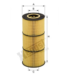 DETROIT DD15 OIL FILTER 472 180 05 09, A 472 180 05 09  ORIGINAL  OIL FILTER HENGST E510H06 D254 6 pack