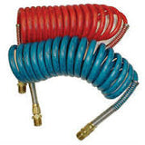 15 ft Blue and Red Air Coiled Hose double --Tectran replacement