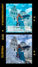 Load image into Gallery viewer, LIGHTROOM MOBILE Presets - SANTORINI