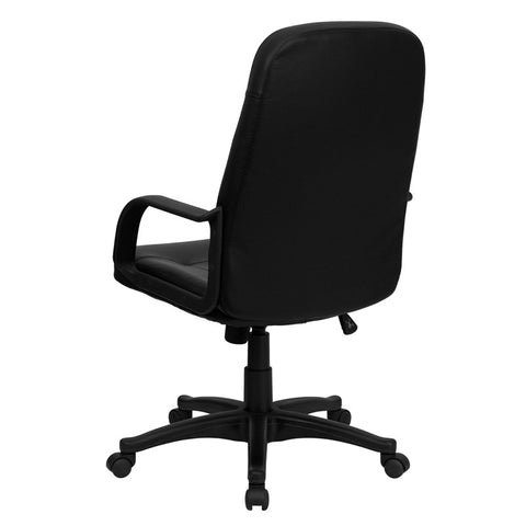 High Back Black Glove Vinyl Executive Office Chair
