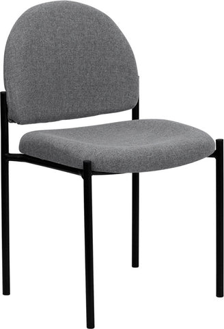 Gray Fabric Comfortable Stackable Steel Side Chair