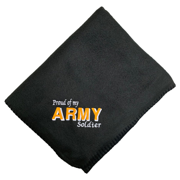 Proud of My Army Soldier - Fleece Blanket
