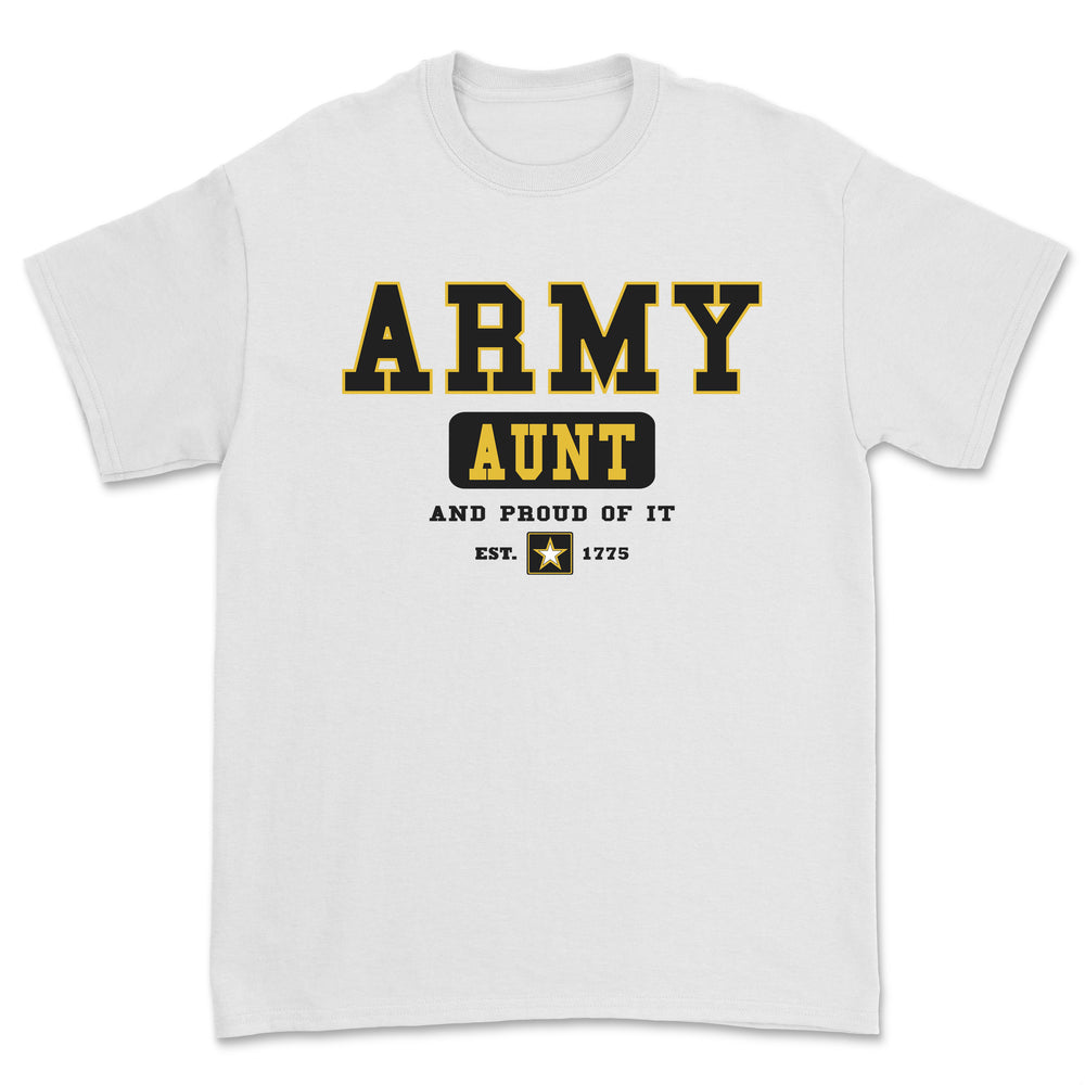 """Army Aunt"" Tee - White"