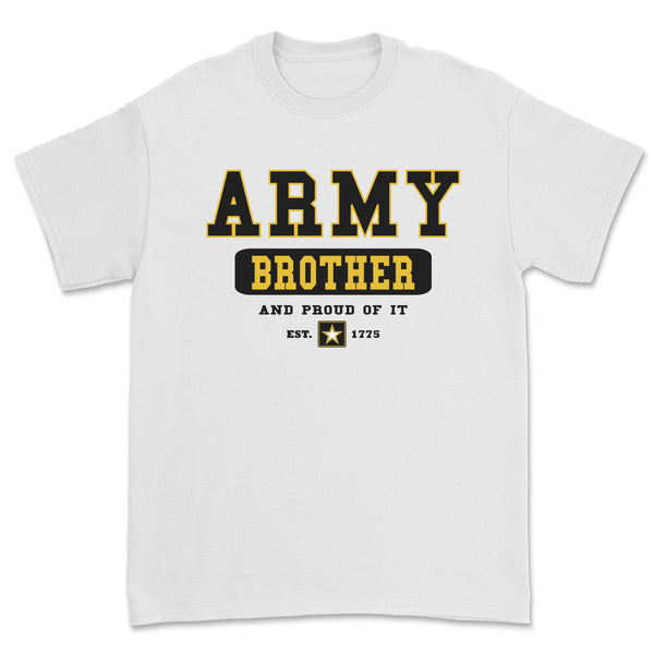 """Army Brother"" Tee - White"
