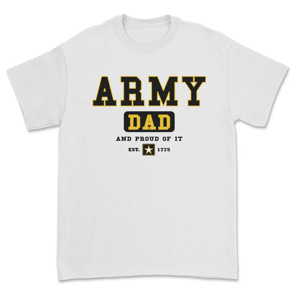 """Army Dad"" Tee - White"