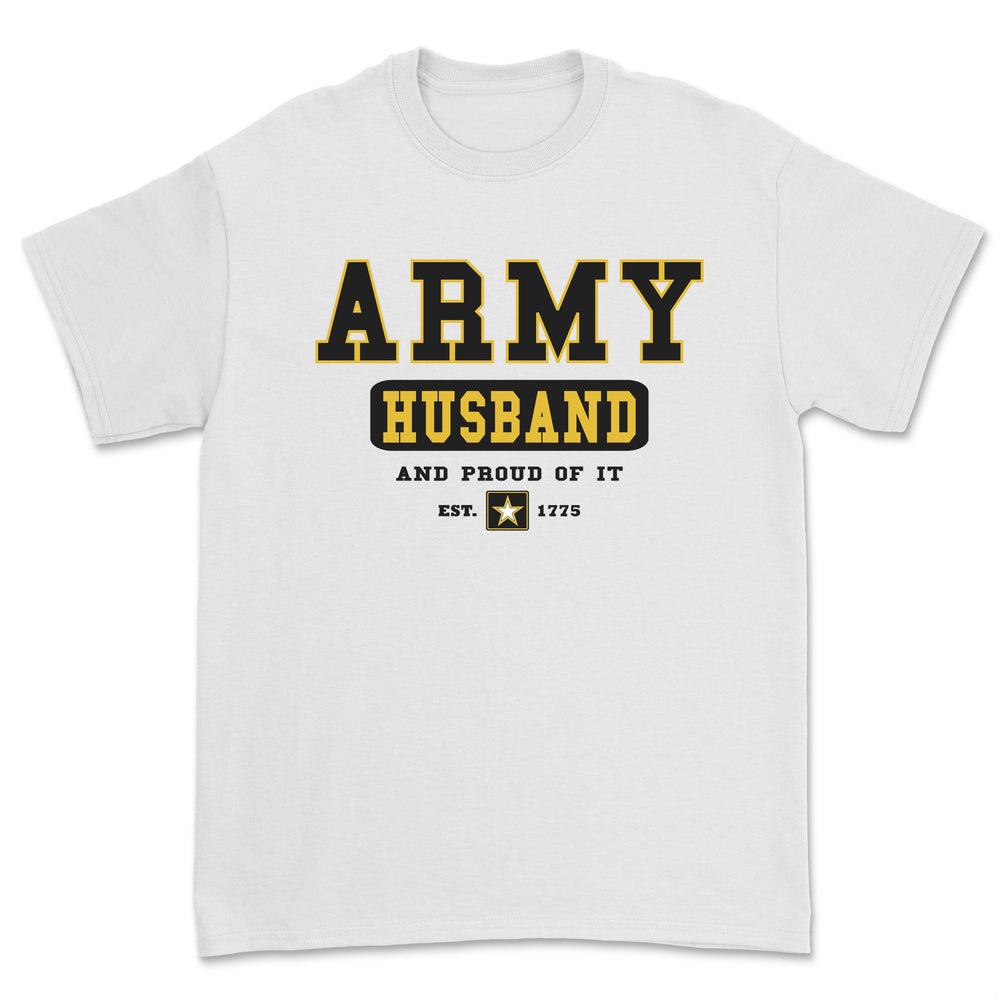 """Army Husband"" Tee - White"