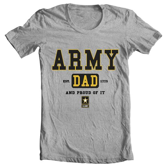"""Army Dad"" Tee - Gray"