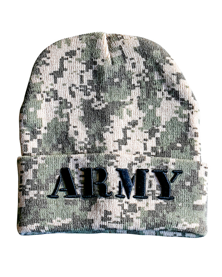 "Digital Camo ""Army"" Beanie"