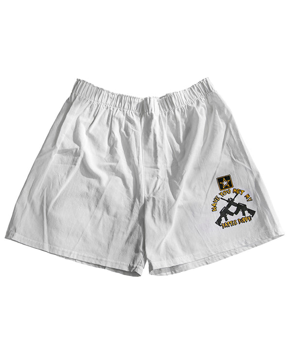 """Have You Met My Battle Buddy?"" Boxer Shorts"