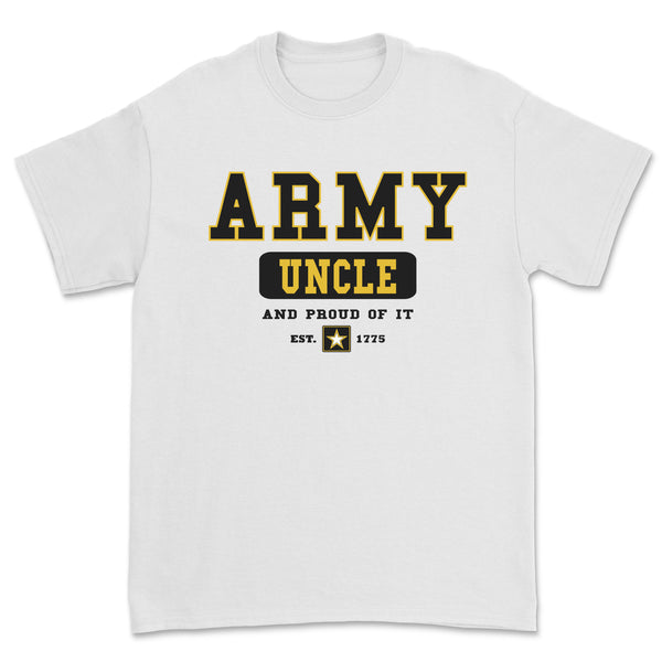 """Army Uncle"" Tee - White"