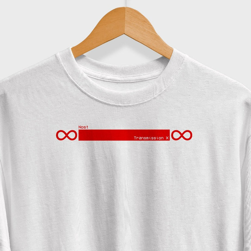 music infinity loop red tshirt