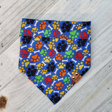 Load image into Gallery viewer, Paws & Bones Blue Bandana
