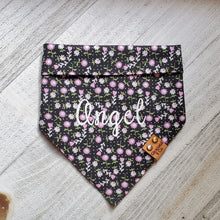 Load image into Gallery viewer, Black Floral Bandana