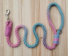 Load image into Gallery viewer, Cotton Candy Rope Leash