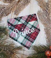 Load image into Gallery viewer, Howliday Plaid Bandana