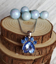 Load image into Gallery viewer, Birthstone Pawprint Charm Necklace
