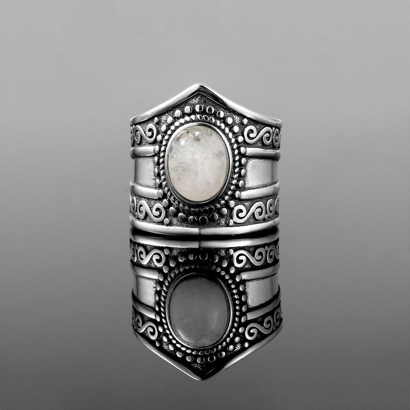 bague pierre de lune vintage authentique