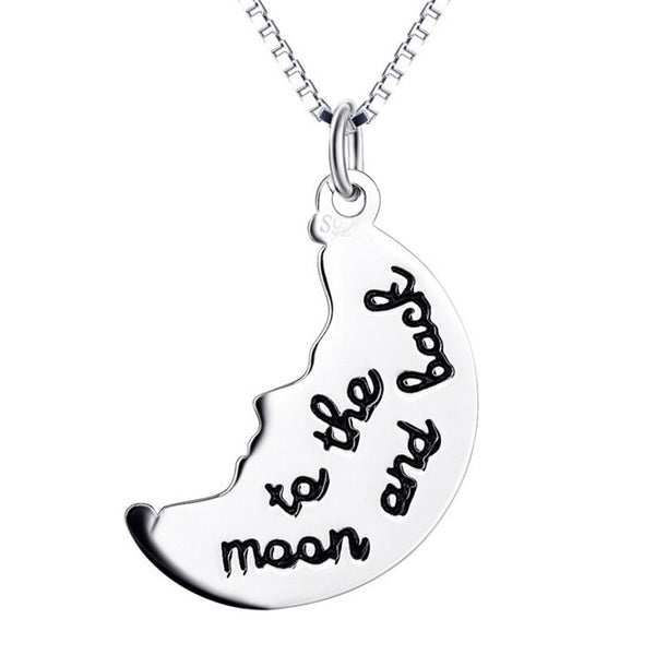 collier demi-lune i love you moon