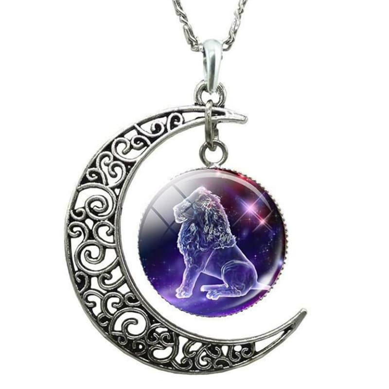 Collier lune signe astrologique lion