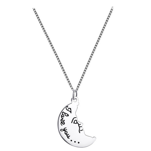 collier lune amour