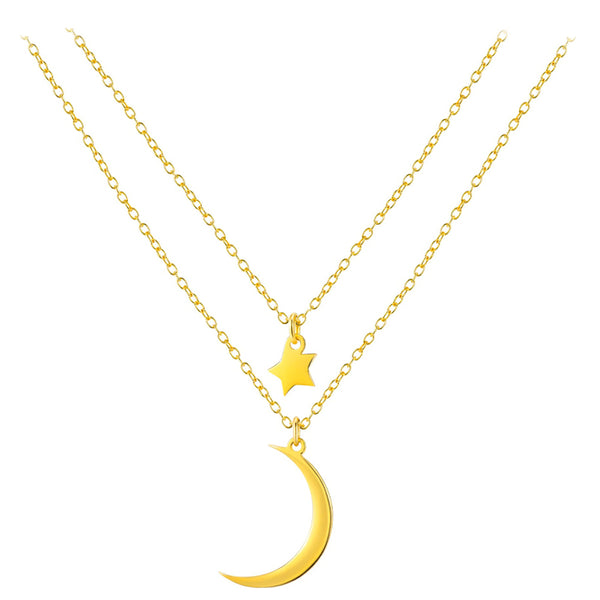 collier lune en double rangs