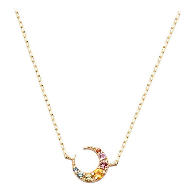 collier lune coloré