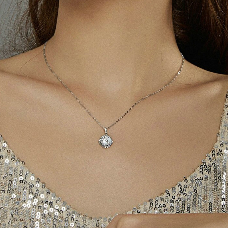 collier lune femme constellation