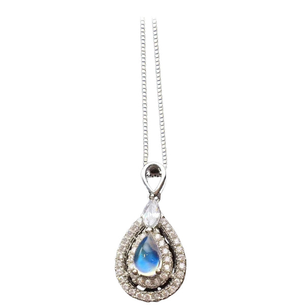 collier pierre de lune diamant
