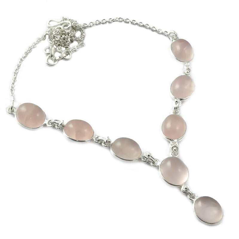 collier pierre de lune rose