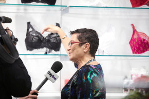 Liliana discussing Empreinte's Thalia bra with CityLine