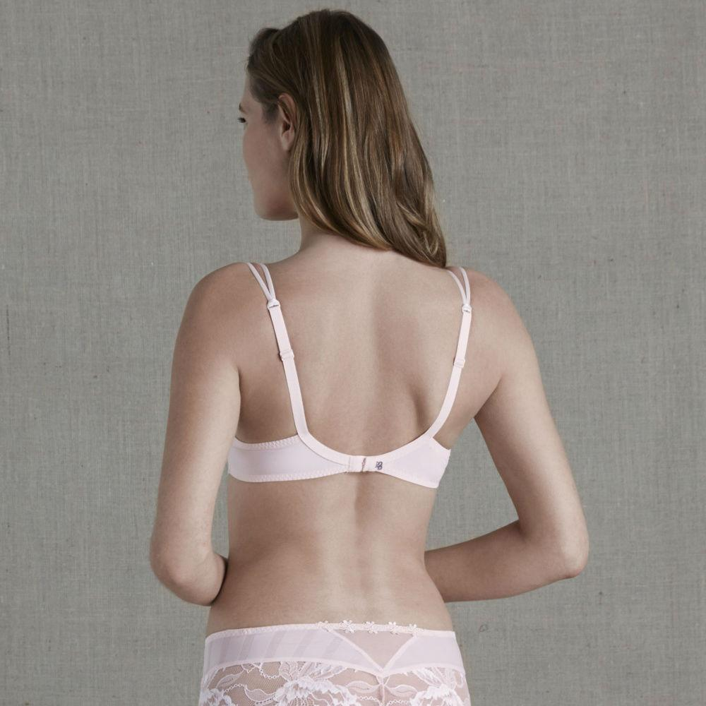 Simone Perele 13R316 Amour Plunge 3D Spacer Bra in Blush pink