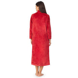Carole Hochman Long Velvet Zip Robe