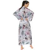 Christine Silk Steel Magnolias Long Robe