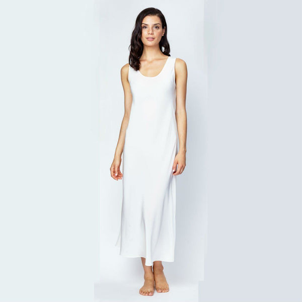 Christine Crepe Tank Gown in Opal